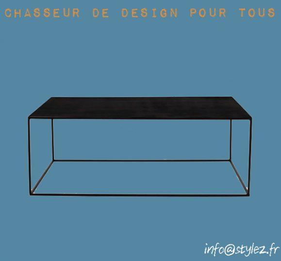table basse fine design noir