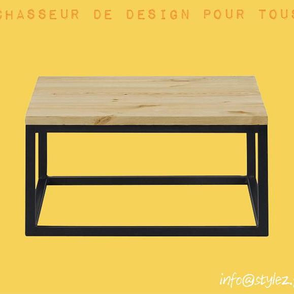table basse salon bois naturel