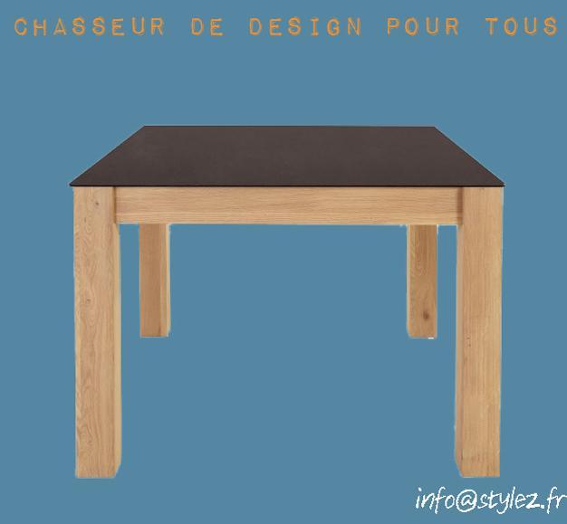 table carre plateau original design