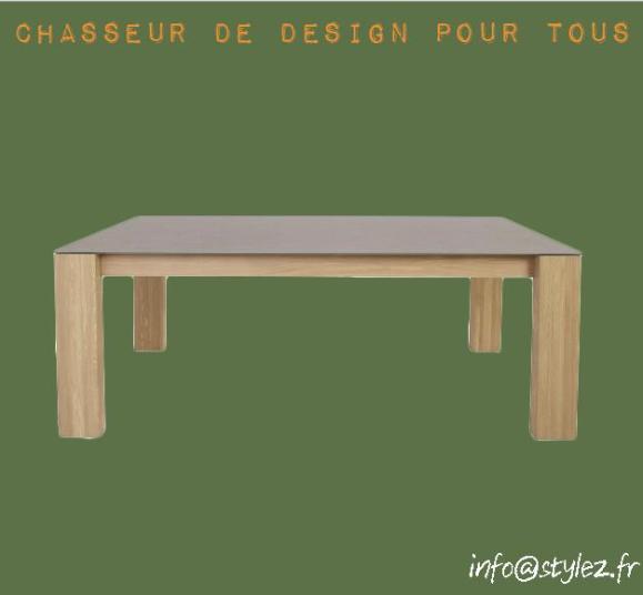 table rectangulaire grande bois design