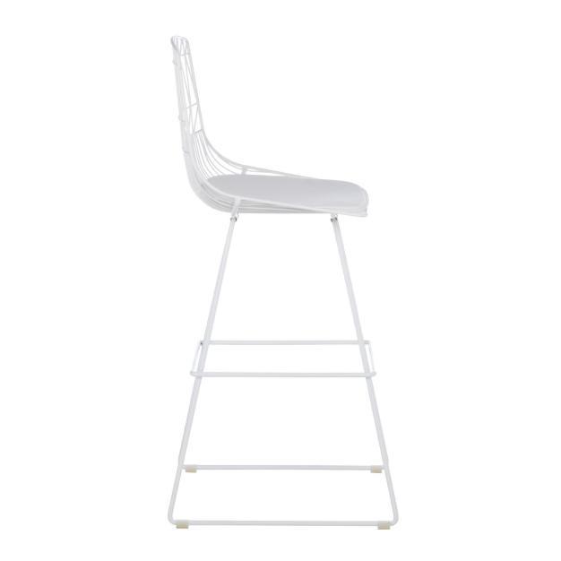 chaise de bar haute blanche