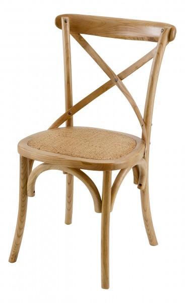 chaise assise tissée bois clair
