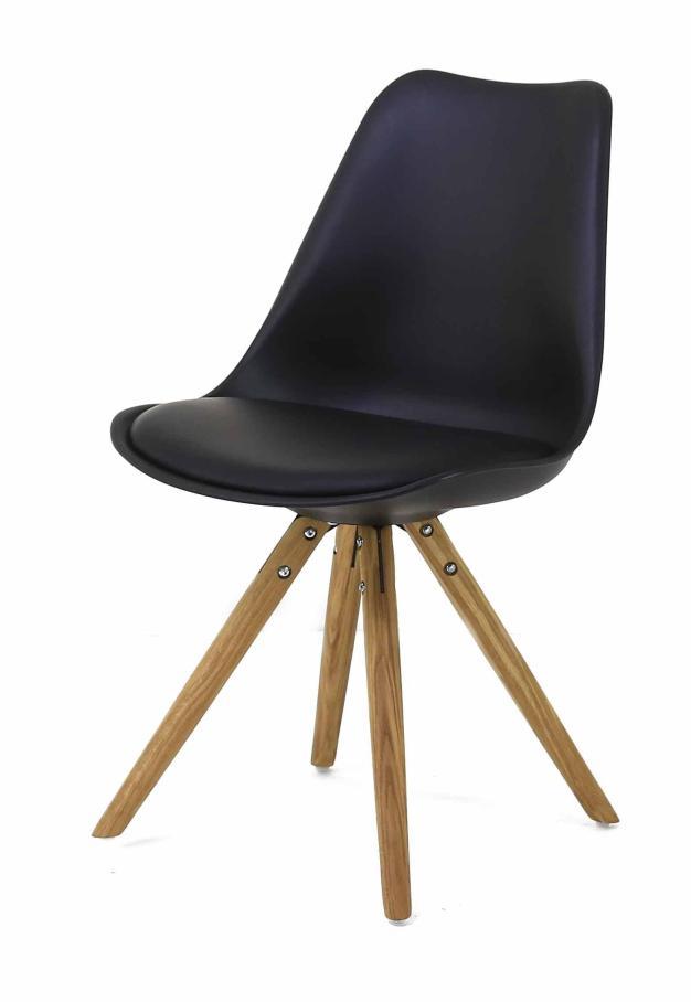 chaise assise rembourrée bleu nuit
