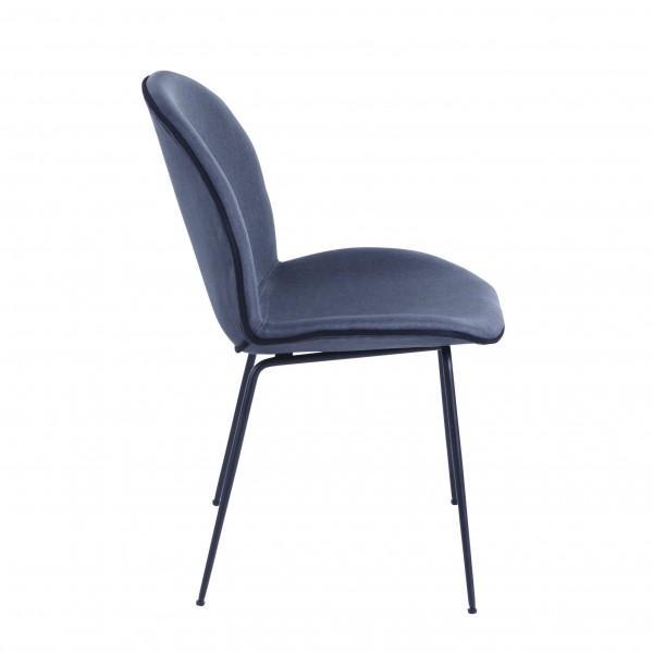 chaise velours tendance gris moderne