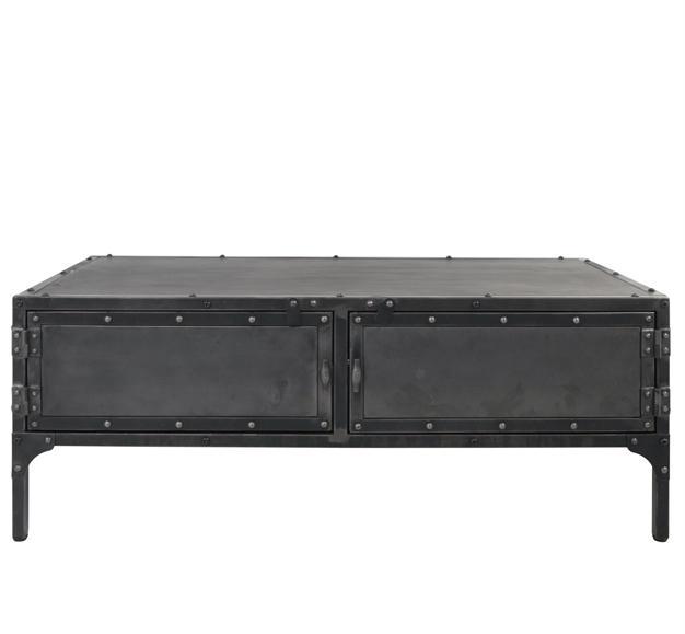 meuble TV en métal noir style industriel