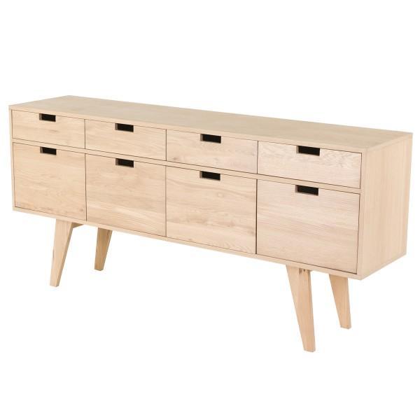 meuble TV chêne avec tiroirs