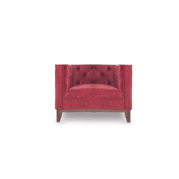 fauteuil piqué rouge clair design