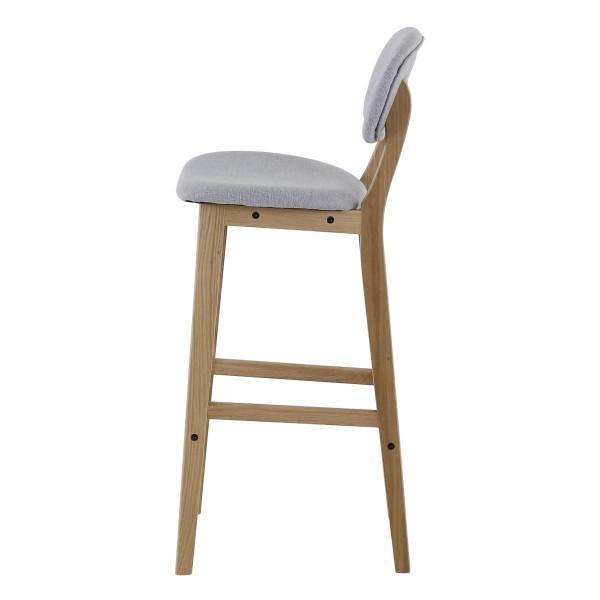 tabouret chabar gris avec assise