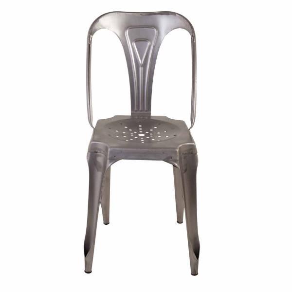 chaise acier industrielle tendance