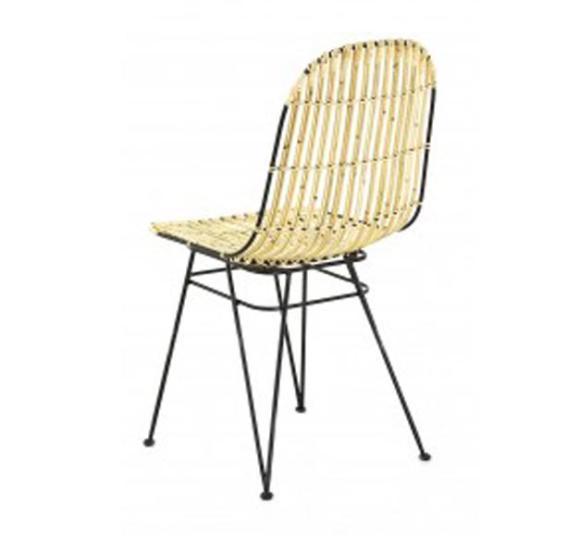 chaise rotin naturel design blanche