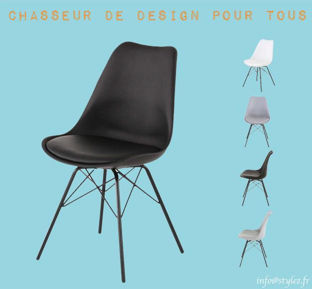 chaise tortule pieds métals