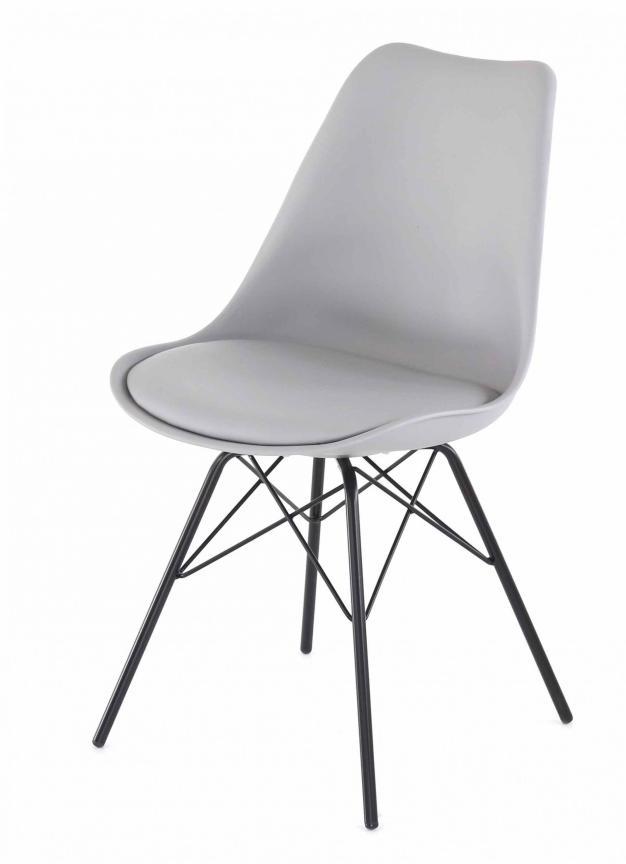 chaise grise haute qualité tendance