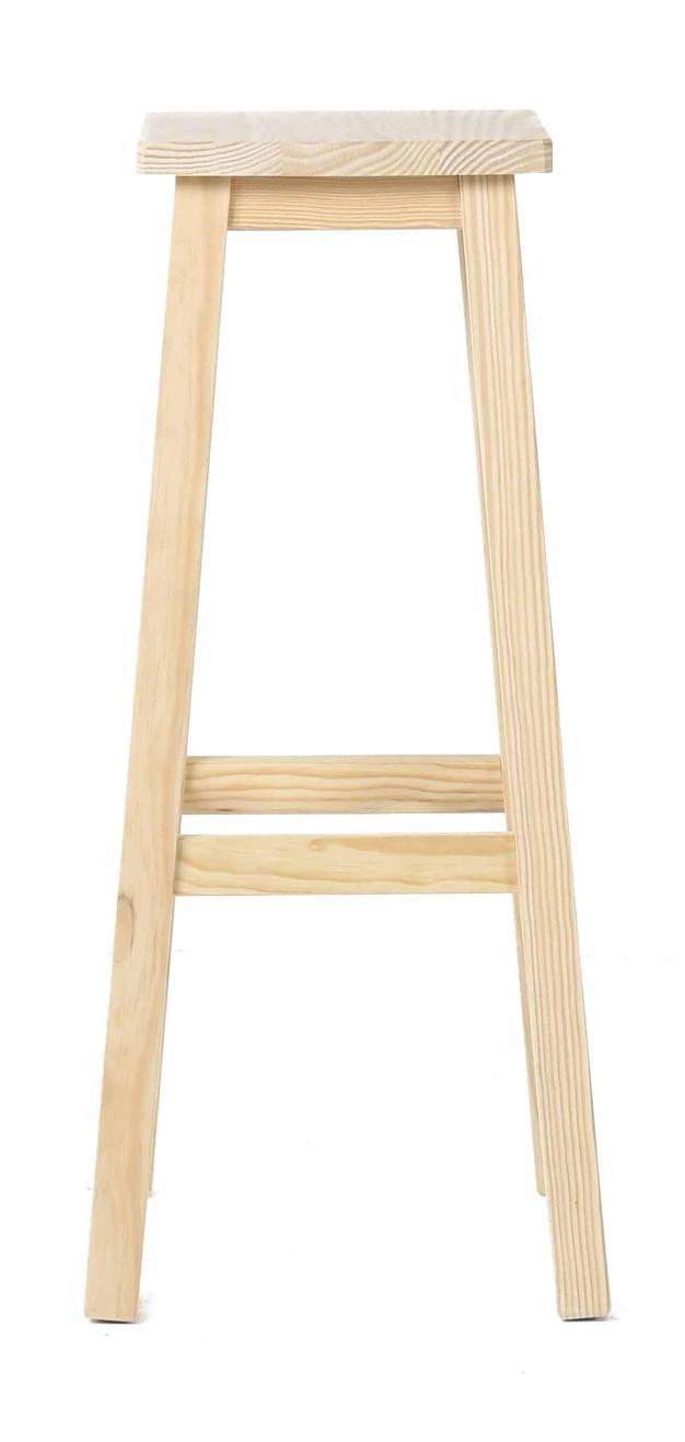 tabouret bar design carré bois