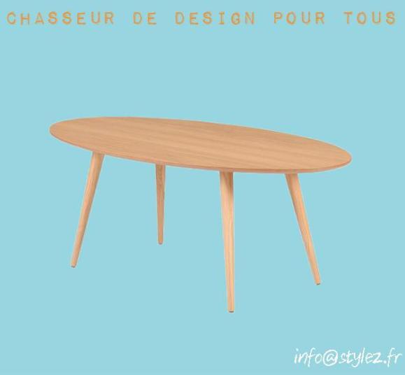 table ovale longue tout bois