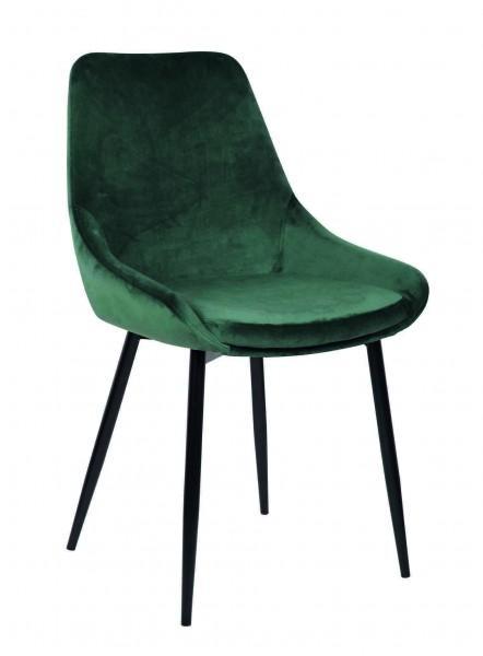 chaise originale vert sapin velours