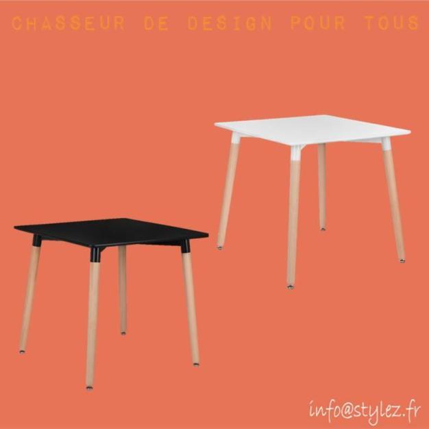 table chic pieds hêtre design