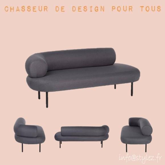 canapé design moderne gris anthracite