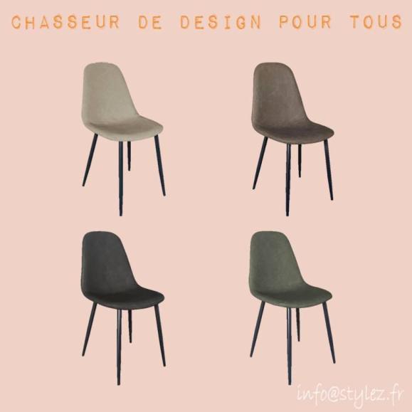 chaise moderne simili cuir élégante