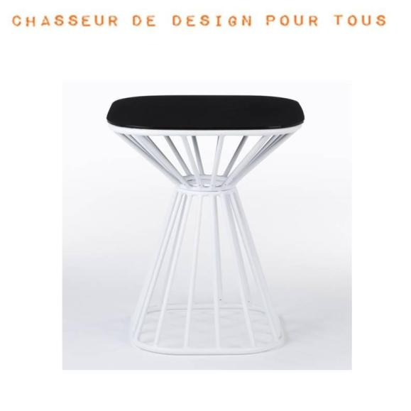 table rayon design noir blanche
