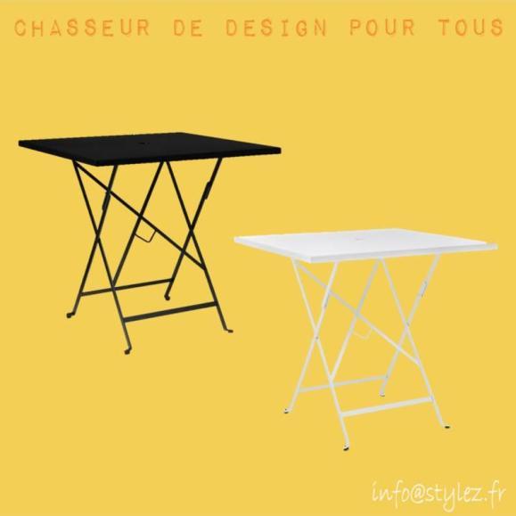 table acier intérieur extérieur design