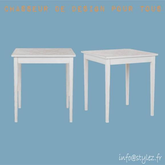 table bois motifs design élégante