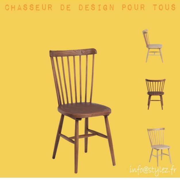 chaise tendance vintage bois naturel