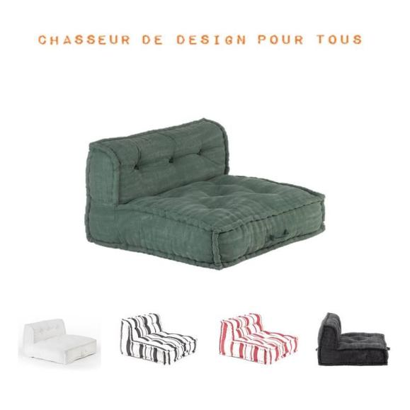 fauteuil sol modulable matelassé dossier couleurs
