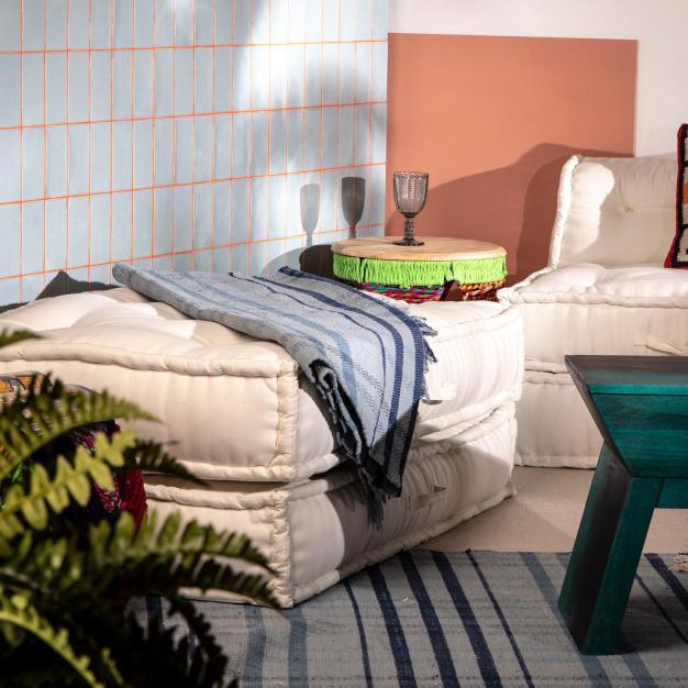canapé modulable intérieur cotton blanc