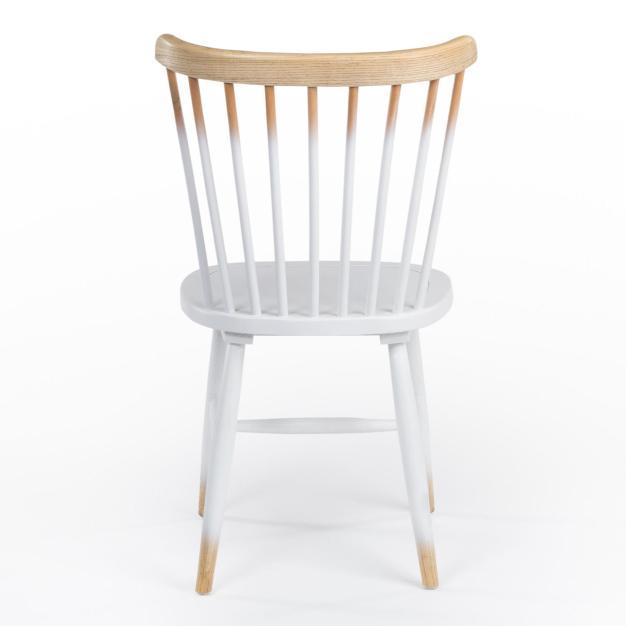 chaise confortable bois blanc marron