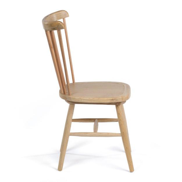 chaise bois d'orme clair