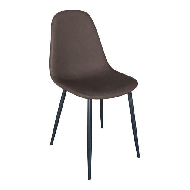 chaise confortable design simili foncé