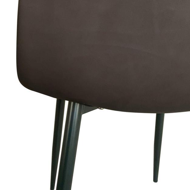 chaise cuir marron chocolat design