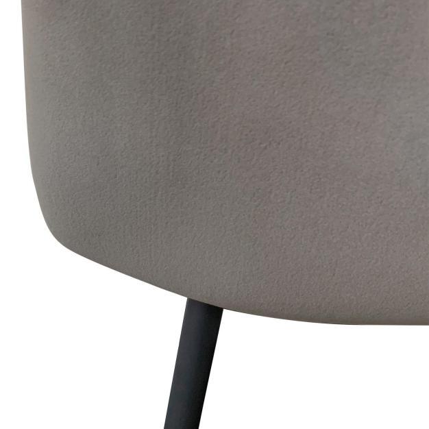 chaise velours haute qualité grise