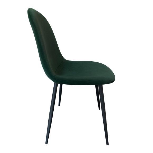 chaise contemporaine velours vert foncé
