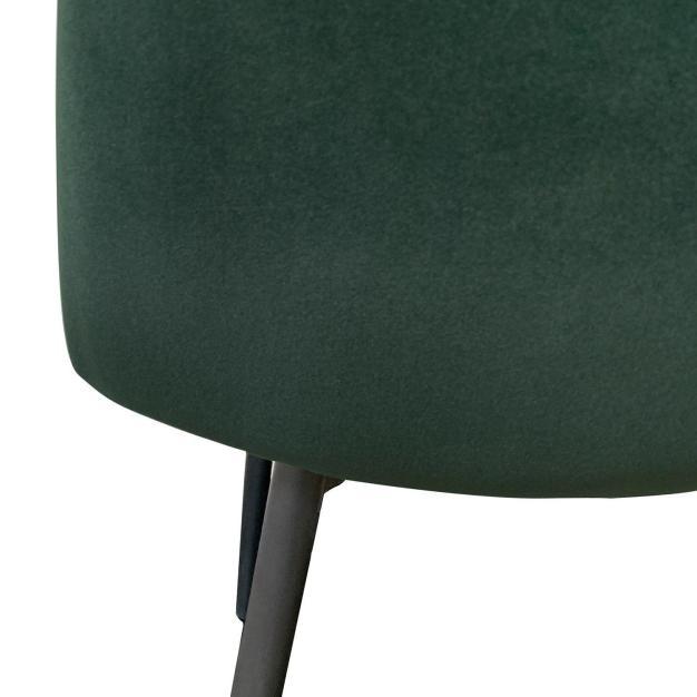 chaise velours haute qualité verte