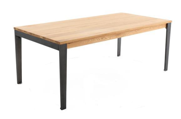 table style industriel en chêne