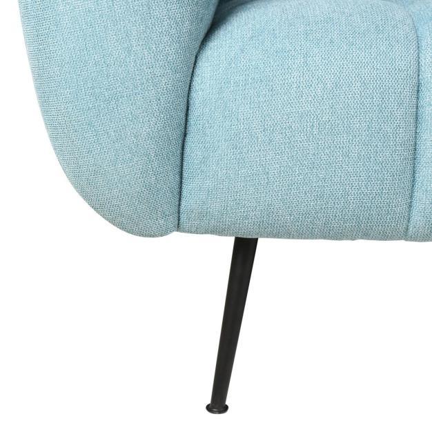 canapé bleu ciel en tissu