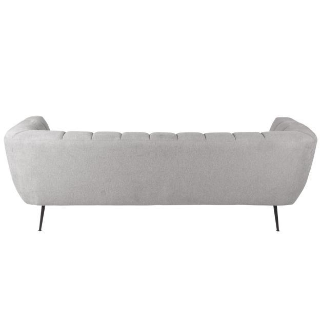 canapé matelassé gris clair