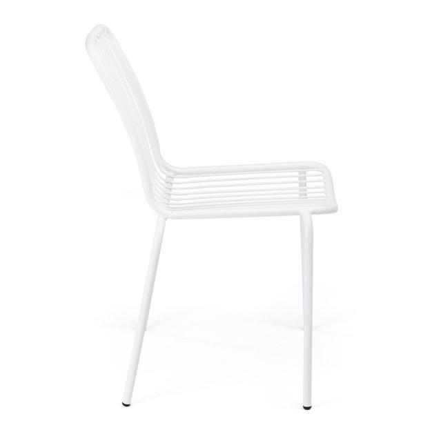 chaise jardin blanche anti-oxydable