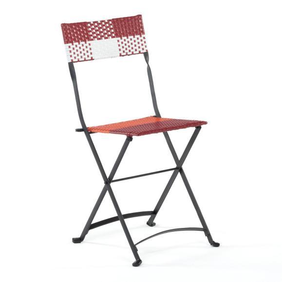 chaise pliante rouge