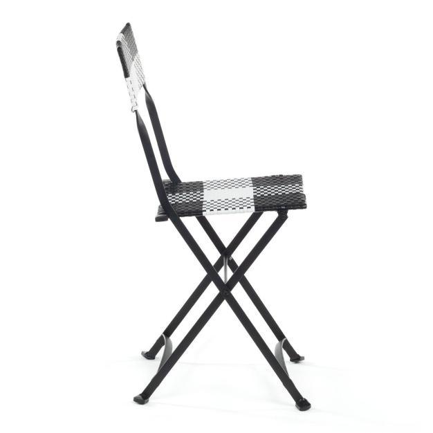 chaise exterieur noir