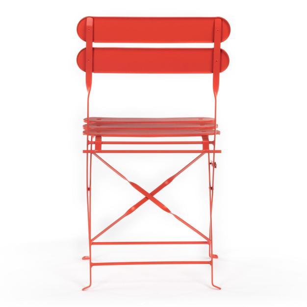 chaise orange extérieure