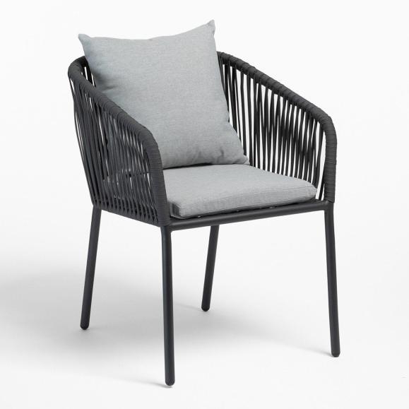 fauteuil jardin gris