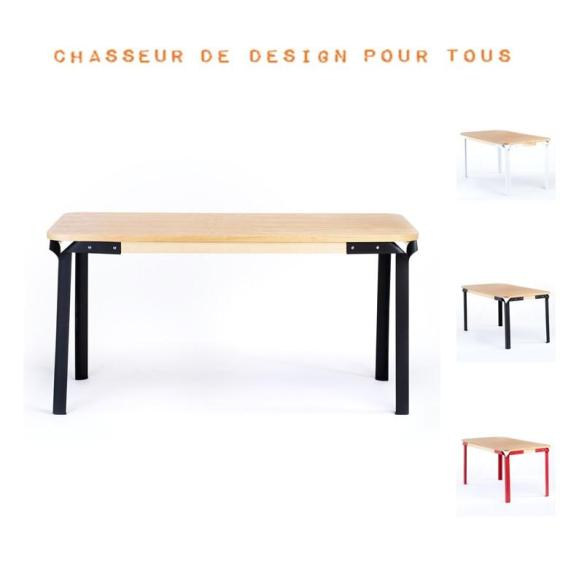 Table frêne design