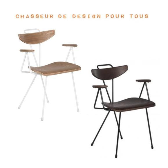 chaise scandi bois metal