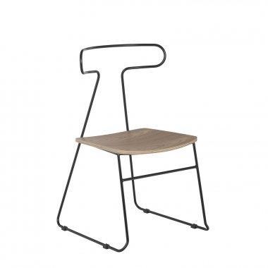 chaise bois noir