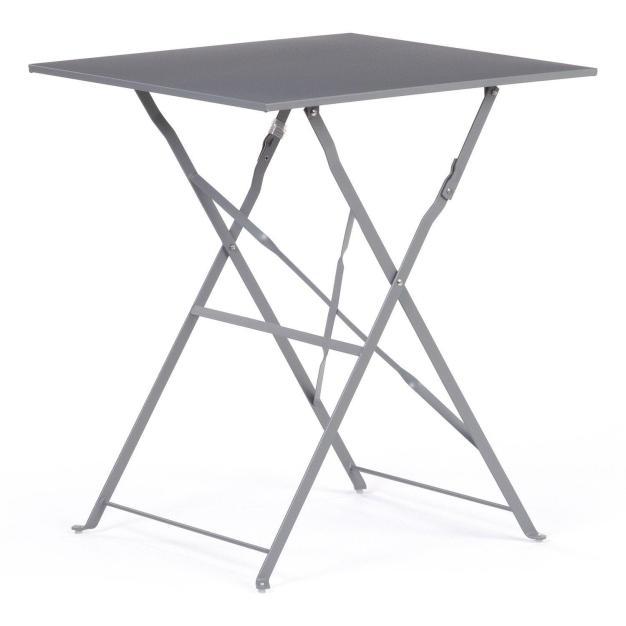 table de jardin gris