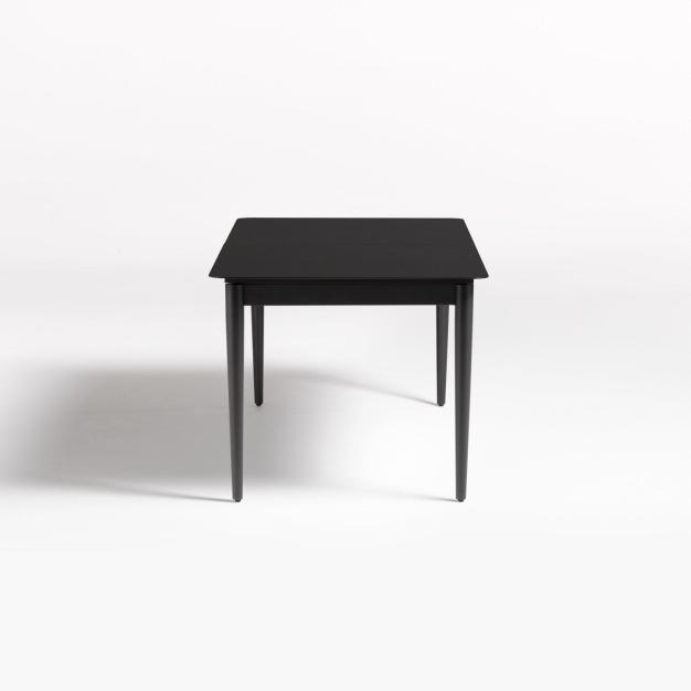 table noir de jardin
