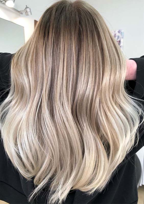 Mens Hairstyles With Highlights Awesome Creamy Balayage Hair Color Highlights For 2019