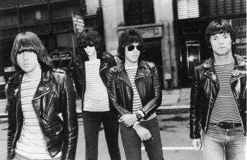 HOLLYWOOD - JUNE 5: A 1981 Promotional portrait of the American punk rock group The Ramones shows (L-R) Johnny, Joey (1951 - 2001), Marky and Dee Dee (1952 - 2002) Ramone. Dee Dee Ramone, 50, was found dead June 5, 2002 of an apparent drug overdose at his Hollywood, California home only a month after the Ramones were inducted into the Rock and Roll Hall of Fame. (Photo by Getty Images)